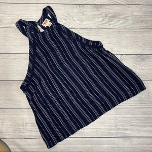 Mossimo blue/white stripped tank. Size M